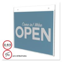 deflecto Classic Image Single-Sided Wall Sign Holder, Plastic, 11 x 8 1/2 Insert, Clear DEF68301