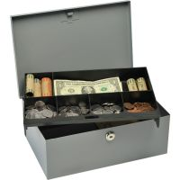 MMF Heavy-gauge Steel Cash Box with Lock MMF221618201