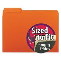 Smead Interior File Folders, 1/3 Cut Top Tab, Letter, Orange, 100/Box SMD10259