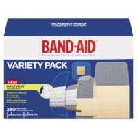 BAND-AID Sheer/Wet Adhesive Bandages, Assorted Sizes, 280/Box JOJ4711