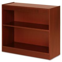 Lorell 2-Shelf Panel Wood Veneer Bookcase LLR89050