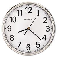 "Howard Miller Hamilton Wall Clock, 12"", Silver, 1 AA MIL625561"