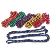 Champion Sports Braided Nylon Jump Ropes, 8ft, 6 Assorted-Color Jump Ropes/Set CSICR8SET
