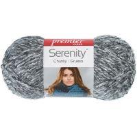 Deborah Norville Collection Serenity Chunky Heathers Yarn - Smoke NOTM466017