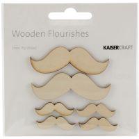 Wood Flourishes 6/Pkg NOTM257854