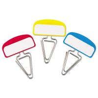 Pendaflex PileSmart Label Clip File Organizers, Blue/Red/Yellow, 12/Pack PFX18651