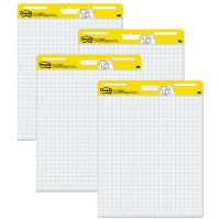 Post-it Easel Pads Self Stick Easel Pads, Quadrille, 25 x 30, White, 4 30 Sheet Pads/Carton MMM560VAD4PK