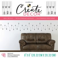 "DCWV Create Decor Removable Wall Decals 8""X8"" NOTM539773"