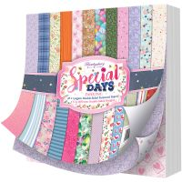 """Hunkydory Double-Sided Paper Pad 8""""X8"""" 48/Pkg NOTM239390"""
