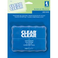 Inkadinkado Clear On Clear Acrylic Block NOTM329724