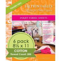 "Inkjet Printable Fabric Sheets 8.5""X11"" 6/Pkg NOTM084634"