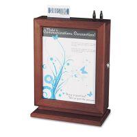 Safco Customizable Wood Suggestion Box, 10 1/2 x 5 3/4 x 14 1/2, Mahogany SAF4236MH