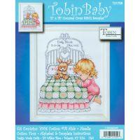 Bedtime Prayer Girl Birth Record Counted Cross Stitch Kit NOTM371299