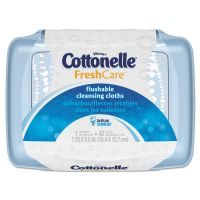 Cottonelle Fresh Care Flushable Cleansing Cloths, White, 3.75 x 5.5, 42/Pack, 8 Packs/CT KCC36734CT