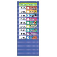 Scholastic Daily Schedule Pocket Chart, 13 x 33, Blue/Clear SHS511498