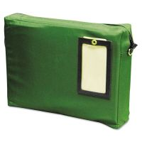 MMF Industries Expandable Dark Green Transit Sack, 14w x 11h x 3d MMF2342411L02