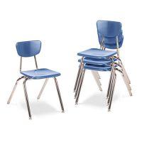"Virco 3000 Series Classroom Chairs, 18"" Seat Height, Blueberry, 4/Carton VIR301840"