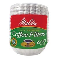 Melitta Coffee Filters, Paper, Basket Style, 8 to 12 Cups, 7200/Carton MLA631132