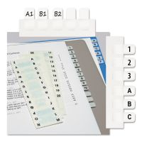 Redi-Tag Side-Mount Self-Stick Plastic A-Z Index Tabs, 1 inch, White, 104/Pack RTG31005