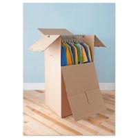 General Supply Brown Corrugated Wardrobe Moving/Storage Boxes, 24l x 20w x 46h, 5/Bundle UFSWARDROBE