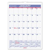 AT-A-GLANCE Monthly Wall Calendar with Ruled Daily Blocks, 8 x 11, White, 2019 AAGPM128