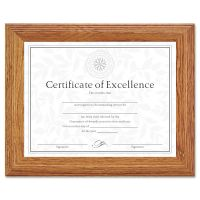 DAX Document/Certificate Frame, Wood, 8-1/2 x 11, Stepped Oak DAX2703N8X
