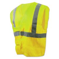 Boardwalk Class 2 Safety Vests, Lime Green/Silver, Standard BWK00036