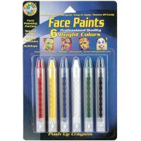 Face Paint Push-Up Crayons 6/Pkg NOTM317223