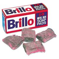 Brillo Hotel Size Steel Wool Soap Pad, 10/Box PUXW240000