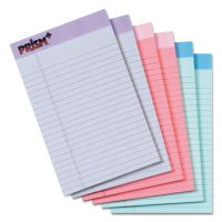 TOPS Prism Plus Colored Legal Pads, 5 x 8, Pastels, 50 Sheets, 6 Pads/Pack TOP63016