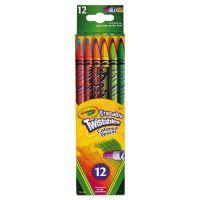 Crayola Twistables Erasable Colored Pencils, 12 Assorted Colors/Pack CYO687508