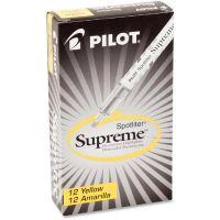 Pilot Spotliter Supreme Highlighter, Chisel Tip, Fluorescent Yellow Ink, Dozen PIL16008