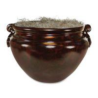 "NuDell Sparta Fiberglass Floor Pot for Artifical Trees, 16"" Diameter, Mahogany NUDT4061"