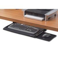 Fellowes Deluxe Keyboard Drawer, 20-1/2w x 11-1/8d, Black FEL8031207