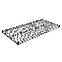 Alera Industrial Wire Shelving Extra Wire Shelves, 48w x 24d, Black, 2 Shelves/Carton ALESW584824BL