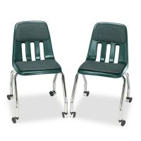 Virco Padded Teacher's Chair, 18-5/8 x 21 x 30, Forest Green, 2/Carton VIR9050P75