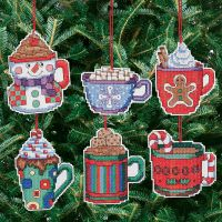 Cocoa Mug Ornaments Counted Cross Stitch Kit NOTM050583