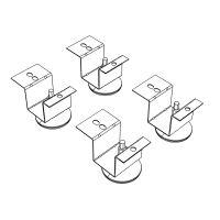 HON Brigade Pedestal Adjustable Glides, 2 x 2 x 2, Black HON20040AG