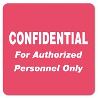 Tabbies Medical Labels for Confidential, 2 x 2, Red, 500/Roll TAB40570