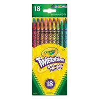 Crayola Twistables Colored Pencils,18 Assorted Colors/Pack CYO687418