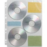 Compucessory CD/DVD Ring Binder Storage Pages CCS22297