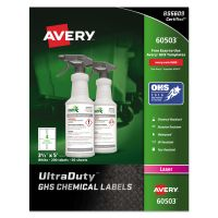 Avery GHS Chemical Waterproof & UV Resistent Labels, Laser, 3.5 x 5, 200/Box AVE60503