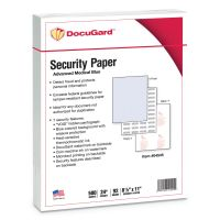 DocuGard Advanced Medical Security Paper, Blue, 7 Features, 8 1/2 x 11, 500/Ream PRB04545