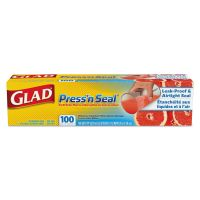 Glad Press'n Seal Food Plastic Wrap, 100 Square Foot Roll, 9/Carton CLO78616CT