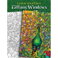 Dover Publications: Color Your Own Tiffany Windows Coloring Book  NOTM466707