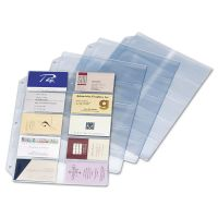 Cardinal Business Card Refill Pages, Holds 200 Cards, Clear, 20 Cards/Sheet, 10/Pack CRD7856000