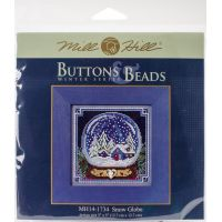 Snow Globe Buttons & Beads Counted Cross Stitch Kit NOTM052683