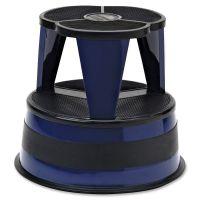 "Cramer Kik-Step Steel Step Stool, 350 lb cap, 16"" dia. x 14 1/4h, Navy CRA100163"