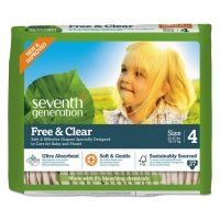 Seventh Generation Free and Clear Baby Diapers, Size 4, 22 lbs to 32 lbs, 108/Carton SEV44063