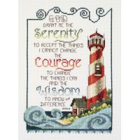 Janlynn Serenity Lighthouse Counted Cross Stitch Kit NOTM449273